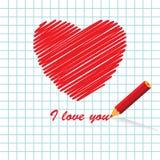 Mensaje del amor Stock de ilustración