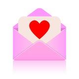Mensaje del amor Foto de archivo libre de regalías