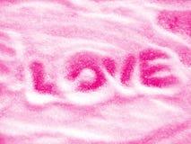 Mensaje del amor Imagen de archivo libre de regalías