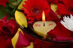 Mensaje del amor Fotos de archivo