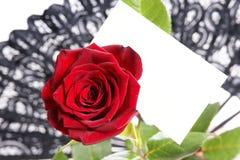 Mensaje del amor Imágenes de archivo libres de regalías