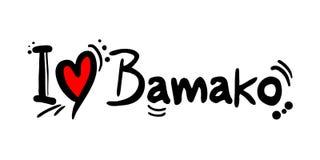 Mensaje del amor de Bamako Fotos de archivo