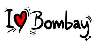 Mensaje del amor de Bombay ilustración del vector