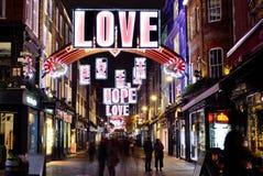 Mensaje del amor de la Navidad Fotos de archivo libres de regalías