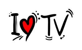 Mensaje del amor de la TV ilustración del vector