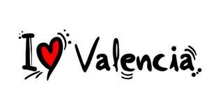 Mensaje del amor de Valencia Foto de archivo libre de regalías