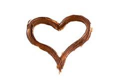 Mensaje del amor del chocolate Fotografía de archivo libre de regalías