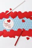 Mensaje del amor del día de tarjeta del día de San Valentín Fotos de archivo libres de regalías
