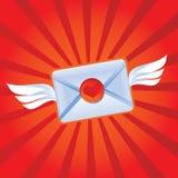 Mensaje del amor del vuelo Fotos de archivo libres de regalías