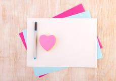 Mensaje del amor en los papeles del collage Fotografía de archivo libre de regalías