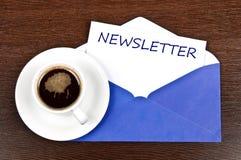 Mensaje del boletín de noticias Imágenes de archivo libres de regalías