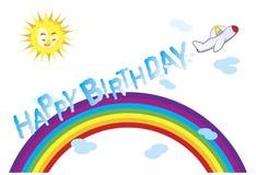 Mensaje del cumpleaños Imagen de archivo libre de regalías