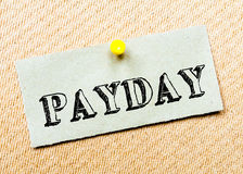 Mensaje del día de paga imagen de archivo