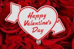 Mensaje del día de tarjeta del día de San Valentín Fotografía de archivo