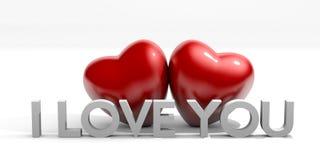 Mensaje del día de tarjeta del día de San Valentín Fotografía de archivo libre de regalías