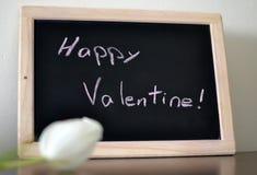 Mensaje del día de tarjeta del día de San Valentín Foto de archivo libre de regalías