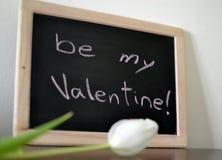 Mensaje del día de tarjeta del día de San Valentín Imágenes de archivo libres de regalías