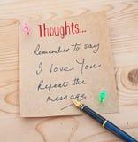 Mensaje del día de tarjeta del día de San Valentín del santo Fotos de archivo libres de regalías