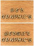 Mensaje del diseño del ordenador de los gráficos del sitio web del web Foto de archivo