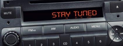 Mensaje del estéreo del coche foto de archivo libre de regalías