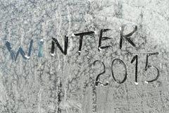 Mensaje del invierno Imagen de archivo libre de regalías