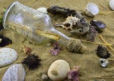 Mensaje del mar Imagen de archivo libre de regalías