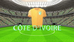 Mensaje del mundial de Costa de Marfil con el jersey y el texto ilustración del vector