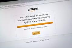 Mensaje del problema del sitio del día de la prima del Amazonas Imagen de archivo
