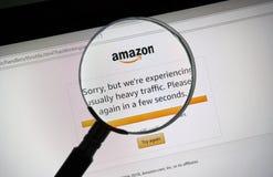 Mensaje del problema del sitio del día de la prima del Amazonas Foto de archivo