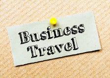 Mensaje del viaje de negocios Imagenes de archivo