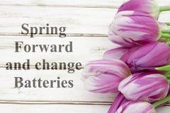 Mensaje delantero de la primavera Fotos de archivo libres de regalías