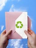 Mensaje ecológico foto de archivo