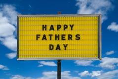 Mensaje feliz del día de padres Imágenes de archivo libres de regalías