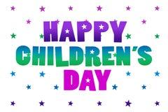 Mensaje feliz del día del ` s de los niños ilustración del vector
