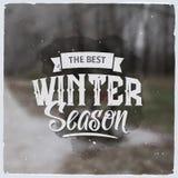 Mensaje gráfico creativo para el diseño del invierno Imágenes de archivo libres de regalías