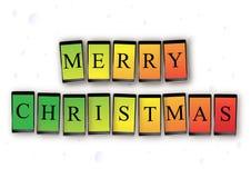 Mensaje móvil de la Navidad Foto de archivo
