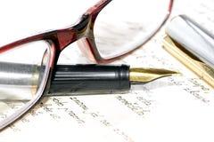 Mensaje manuscrito. Fotografía de archivo