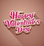 Mensaje moderno feliz del día de tarjeta del día de San Valentín Fotografía de archivo