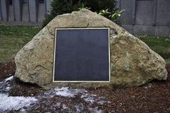 Mensaje o piedra conmemorativa Fotografía de archivo