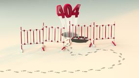 Mensaje sobre el error no encontrado 404 de la página fuera del agujero Vínculo a una página inexistente Algo salió mal Fotos de archivo