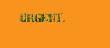 Mensaje urgente anaranjado brillante fotografía de archivo libre de regalías