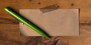 Mensaje verde Fotografía de archivo libre de regalías