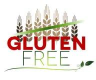 Mensaje y trigo libres del gluten en el top Imagenes de archivo