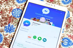 Mensajero app de Facebook Fotos de archivo libres de regalías
