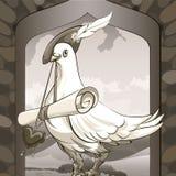 Mensajero de la paloma Imágenes de archivo libres de regalías
