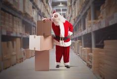 Mensajero de Santa Claus Fotografía de archivo