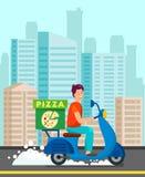 Mensajero Delivering Dinner al ejemplo del cliente libre illustration