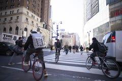 Mensajeros en New York City fotografía de archivo