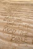 Mensajes cristianos Imágenes de archivo libres de regalías