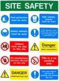 Mensajes de advertencia de salud y de la seguridad Imágenes de archivo libres de regalías